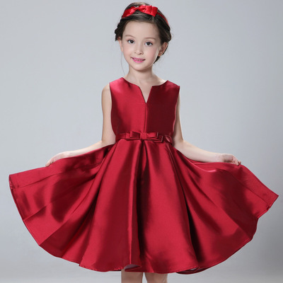 New Princess Dress Girls Formal Dress Kids Spring Summer Sleeveless