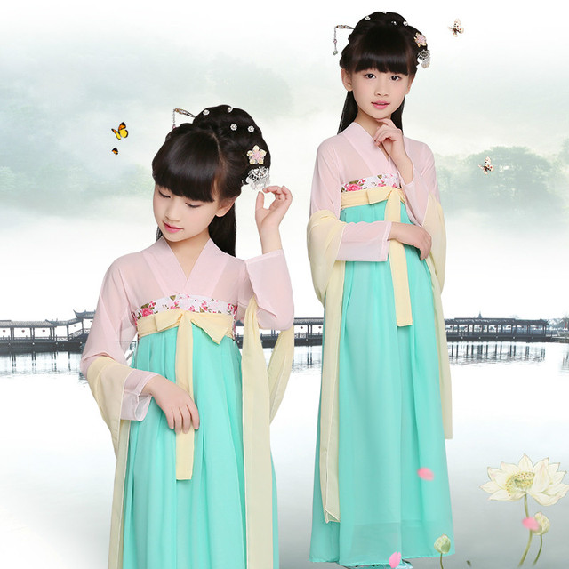7573513a5 Child Princess Dress Satin Chinese Folk Costume Kids Hanfu Clothing Kids  Chinese Traditional Clothing Tang Suit 18