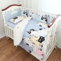 3 pcs/set crib bedding set 100% cotton baby bedding Pink bear Clouds black dot cross design for girls boys bed