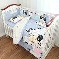 3 unids/set cuna bedding set 100% algodón baby bedding oso rosado nubes negro punto de cruz diseño para niñas niños cama