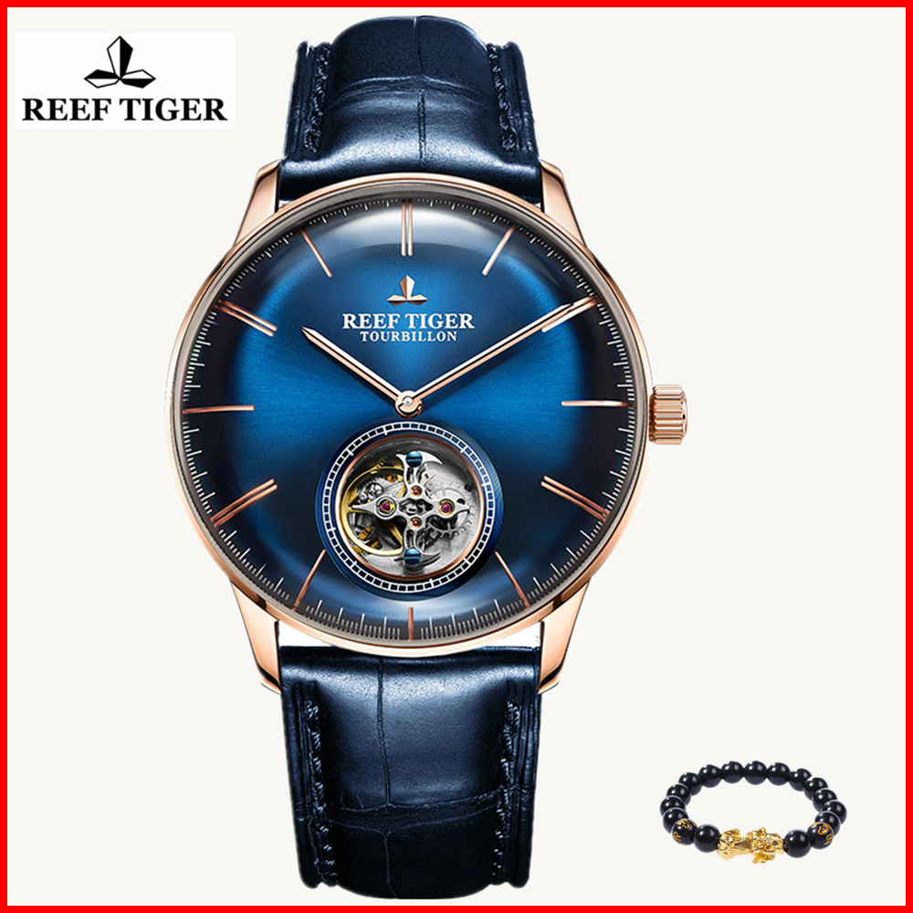 Reef Tiger/RT Official Men Luxury Brand Tourbillon Watch Genuine Leather Strap Automatic Watches Relogio Masculine RGA1930+giftReef Tiger/RT Official Men Luxury Brand Tourbillon Watch Genuine Leather Strap Automatic Watches Relogio Masculine RGA1930+gift