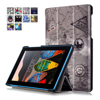 Color Paint Flip Cover Leather Case For Lenovo TAB3 Tab 3 7 730 730F 730M 730X