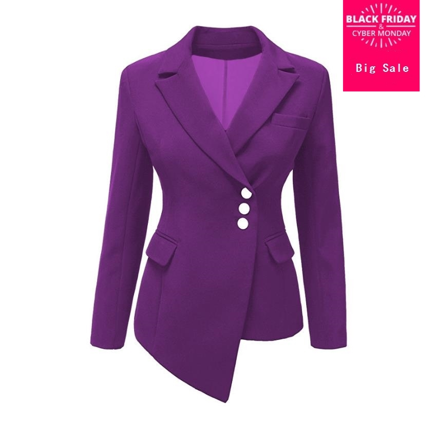 Hot Selling 9 Colours Women New Blazers Coats 2019 Spring Autumn Fashion Office Ladies OL Coats Full Sleeve Jackets Gx846