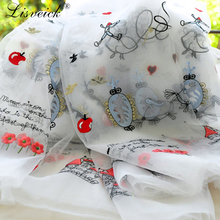 1yard Organza embroidered lace fabric Fairytale kingdom childrens clothing materials Prince princess skirt diy craft
