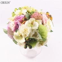 Silk Rose European Bouquet