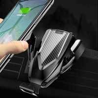 10W Qi Wireless Fast Charge Car Holder Air Vent Mount Stand For iPhone 8 XS Max Samsung S9 S8 S7 Note 9 8 For Huawei Mate 20 Pro