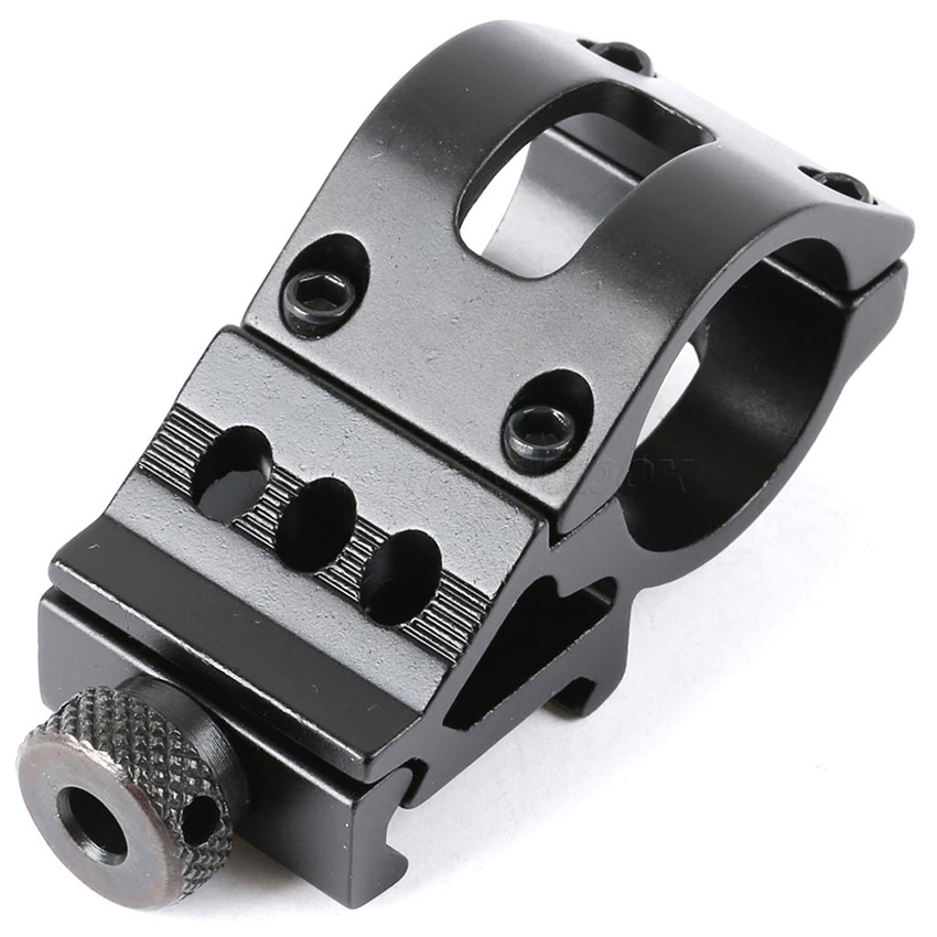 "Hunting Accessories 45 Degree Offset 1"" 25.4mm/30mm Picatinny Weaver Rail Flashlight/Laser Mount QD Military Gear(China)"