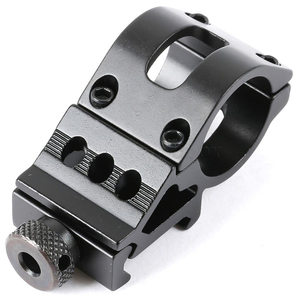 "Hunting Accessories 45 Degree Offset 1"" 25.4mm/30mm Picatinny Weaver Rail Flashlight/Laser Mount QD Military Gear(China)"