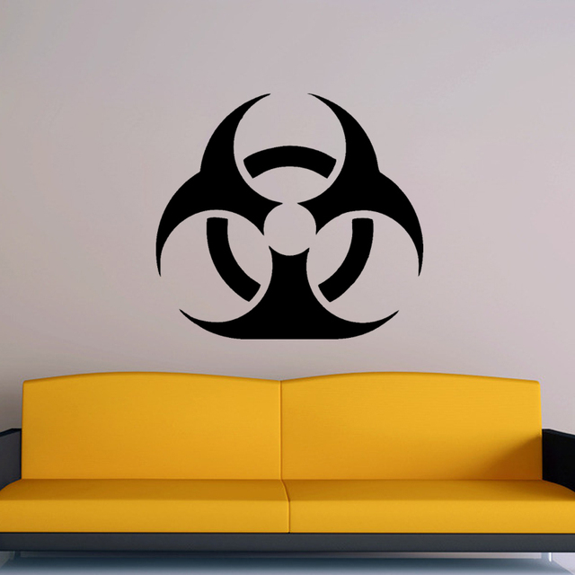 Cool Graphics Biohazard Symbol Vinyl Wall Sticker Art Decoration In