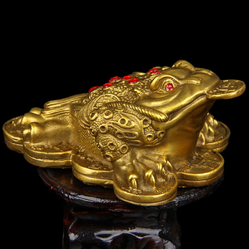 Feng Shui Money Frog Money Toad Attract Wealth in Figurines Miniatures from Home Garden