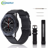 HANGRUI Smart Watch Band For Samsung Gear S3 Classic Frontier Strap Woven Nylon Replacement Straps Belt