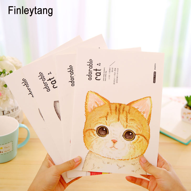 Cute Cat Soft Copybook Notebook B5 Planner Agenda Student Diary Book Creative 4 Style Kawaii Stationery Office School SuppliesCute Cat Soft Copybook Notebook B5 Planner Agenda Student Diary Book Creative 4 Style Kawaii Stationery Office School Supplies