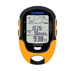 SUNROAD GPS Tracker Locator Finder Navigation Compass Handheld USB Rechargeable Digital Altimeter Barometer GPS Reloj Watches