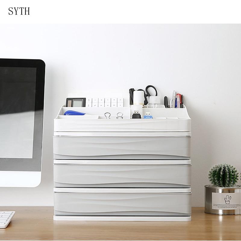 SYTH Desktop Cosmetic Organizer Makeup Storage Boxes Bins Plastic Cosmetic Storage Box Desktop Sundries cosmetic organizer
