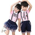 Boys Girls Clothing Set Children Clothing England Style Children School Uniform Bows Ties Tops Kindergarten Clothes tyh-20776