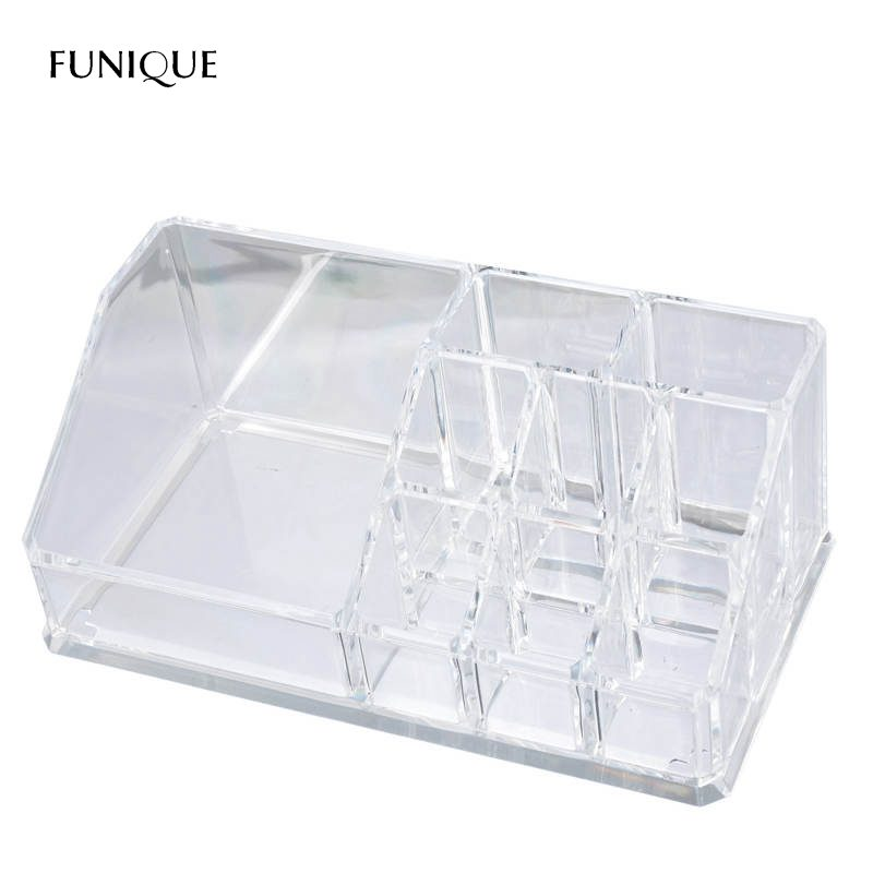 FUNIQUE Makeup Organizer Plastic Storage Box For Jewelry Container Toiletry Organizer Cosmetic Storage Box Lipsticks Holder