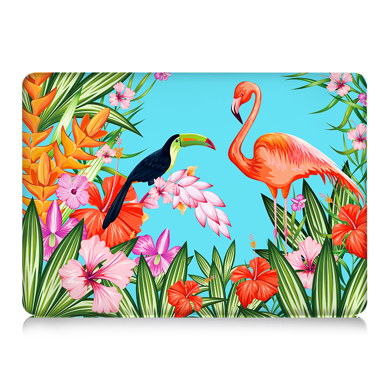 MTT Laptop Bag Case For 2017 New Macbook Air 13 Case 11 Pro 13 15 12 Retina Touch Bar Print Hard Protect Cover Flamingo Shell