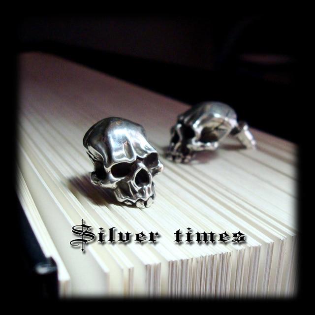 d91aa216b Bahamut Marcasite Thai 925 Silver Skull Earrings Handmade Carved Vintage  Skeleton Stud Earrings Sterling Silver Realism