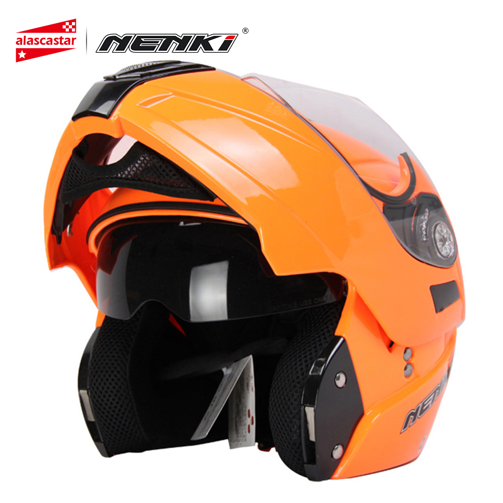 все цены на NENKI Motorcycle Helmet Full Face Helmet Moto Summer Motorbike Racing Flip Up Modular Helmet Motocross Casco with Dual Visor 831