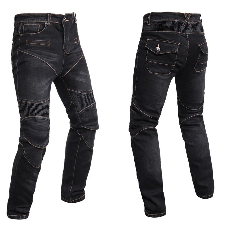 Motocentric Coupe-Vent Moto Jeans Occasionnels Pantalon Hommes de Moto Motocross Off-Road Genou De Protection Moto Jeans Pantalon