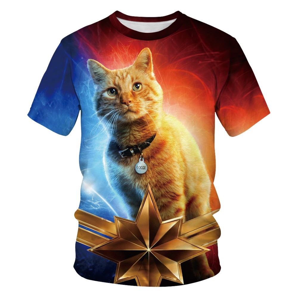 Men Women Hot Captain Marvel Printed T-shirt Costumes Short Sleeve Summer Fashion Tops Tees EU/US size