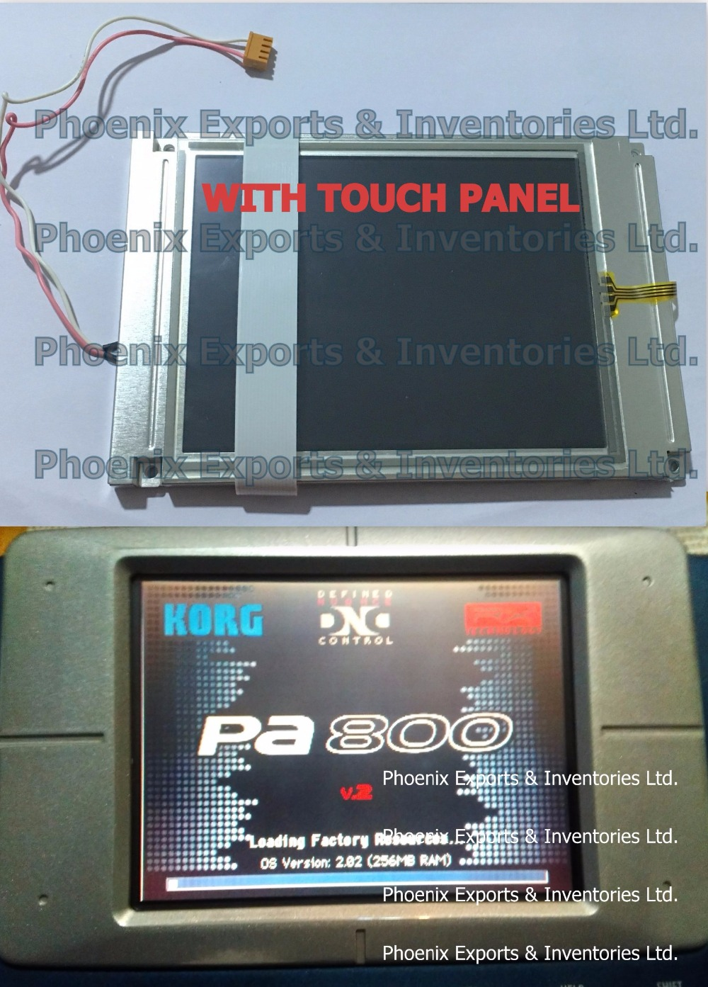 Brand New Korg Display with Touch Screen Digitizer for Korg PA800 LCD Screen Display Panel WITH TOUCH SCREEN PAD-in LCD Modules from Electronic Components & Supplies