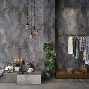 Image 4 - Papel tapiz De PVC para sala De estar, Papel tapiz 3D Retro gris cemento para restaurante, café, Papel De pared impermeable De Color liso, Papel De decoración Vintage