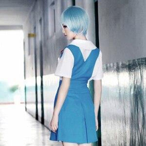Image 5 - 4 pièces/ensemble dame Halloween Cosplay Asuka Langley Soryu Tokyo Ayanami Rei Halloween Cosplay Costume école uniforme perruque livraison gratuite