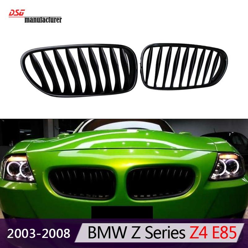 Grilles de pare-chocs avant abs z4 e85 e86 pour bmw z4 e85 2003 à 2008 roadster et e86 coupé grille de rein convertible