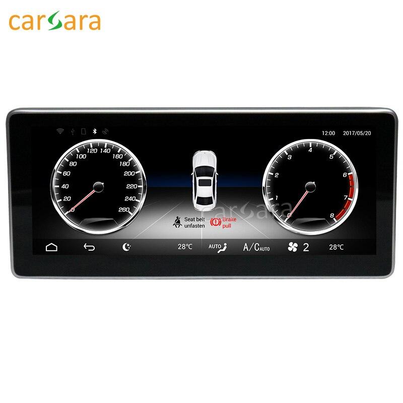 Carsara Android affichage pour Benz GLK X204 2013-2015 10.25 pouces écran tactile GPS Navigation radio stéréo dash lecteur multimédia