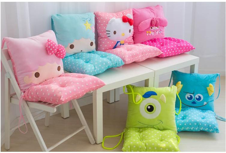 ФОТО Super cute 1pc 40cm cartoon Melody twin star hello kitty soft plush pillow chair cushion stuffed toy Valentine's Day gift