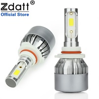 2Pcs H11 LED Lamp Bulb 72W 7600LM Fog Light Universal Car LED Light 12V 6000K White