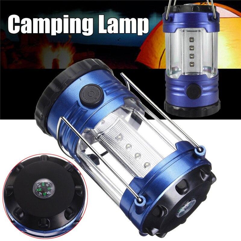 Super Bright 12LEDs Outdoor Camping Lights Portable Lantern Tent Lamp White Light Emergency Hanging 3xAA Led Flashlight