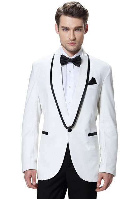 Brand New Groomsmen White/Red/Navy Blue/Grey Men Suits Wedding Best Man Wedding Tuxedos (Jacket+Pants+Tie+Hankerchief) V33