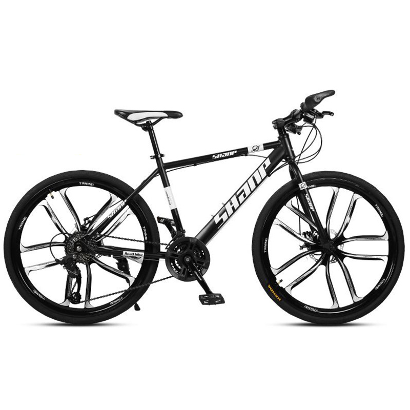 Mountain Bike 21-Inch And 24-Inch Variable Speed Bicycle Double Disc Brake One Wheel Multiple Color Suitable For Adults