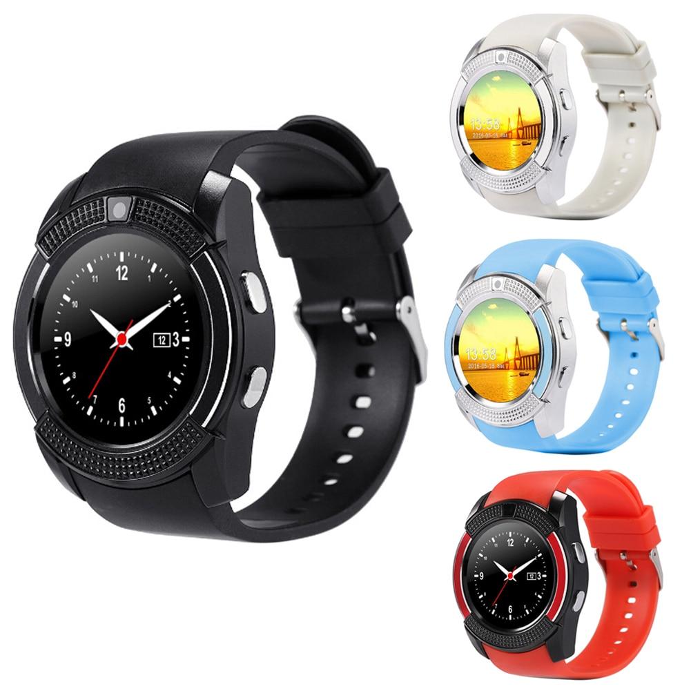 Nuevo v8 de 1.22 pulgadas de pantalla táctil smart watch apoyo tf tarjeta sim de