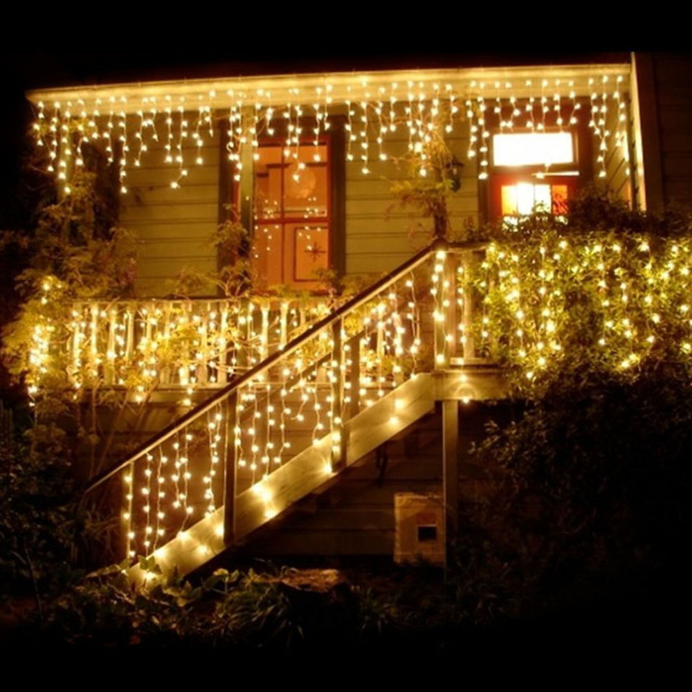 10M 100 LED String Fairy Lights Garland Christmas Tree Lights Waterproof Curtain String Light For Home Garden Outdoor Decoration fairy led solar panel meteor shower string lights waterproof garden outdoor home tree lamp festival new year garland decoration