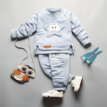 2017 spring Children Clothing Sets boy and girl Long-sleeve casual clothes two piece set Toddler Kids Boys Clothes T-shirt+Pants