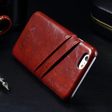 Leather With Card Holder Back Cover For Apple iPhone 7 / 7 Plus