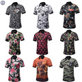Hot Sale New 2017 Fashion Brand Men Polo shirt Camo print short Sleeve Slim Fit Shirt Men polo Shirts Casual Shirts 4XL cheap