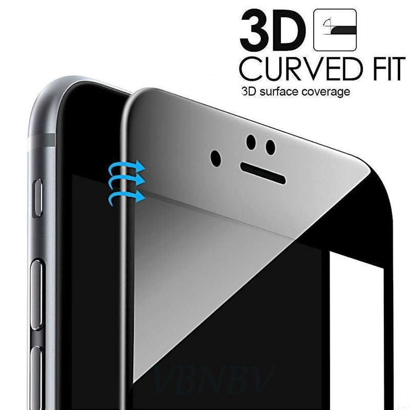 VBNBV 3D Tempered glass for iPhone 7 8 6 6s Plus 5 5S SE 9H Full Screen Protector for iPhone X XR XS Max  protective Glass Film