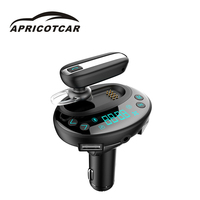 New Universal Separable Car Bluetooth Hands free Audio MP3 Music Player Car Dual USB Charger FM Transmitter Support TF Card