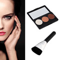 New 3 Colors Face Cream Makeup Concealer Palette + Powder Foundation Brush Hot Selling 2015 New Quality