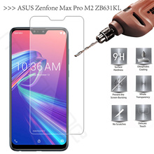 ASUS Zenfone Max Pro M2 ZB631KL Tempered Glass Film Screen Protector Luxury 9H 0.26mm Thin Front ZB33kl