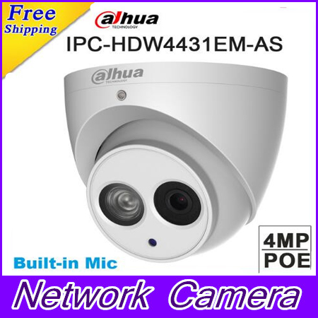 D'origine Dahua IPC-HDW4431EM-AS remplacer IPC-HDW4231EM-AS 4MP POE IR 50 m Globe Oculaire Réseau Caméra Dôme Construit en Mic Caméra IP
