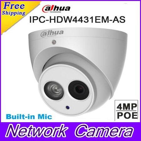 Original Dahua IPC-HDW4431EM-AS replace IPC-HDW4231EM-AS 4MP POE IR 50m Eyeball Network Dome Camera Built-in Mic IP Camera original dahua 4mp ipc hdbw4421r as ip network camera support poe