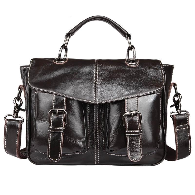 Genuine Leather Women Briefcase Bolso Negocios Cowhide Business Women Handbags Leather Laptop Bag Messenger Bag Bolsa Mujer