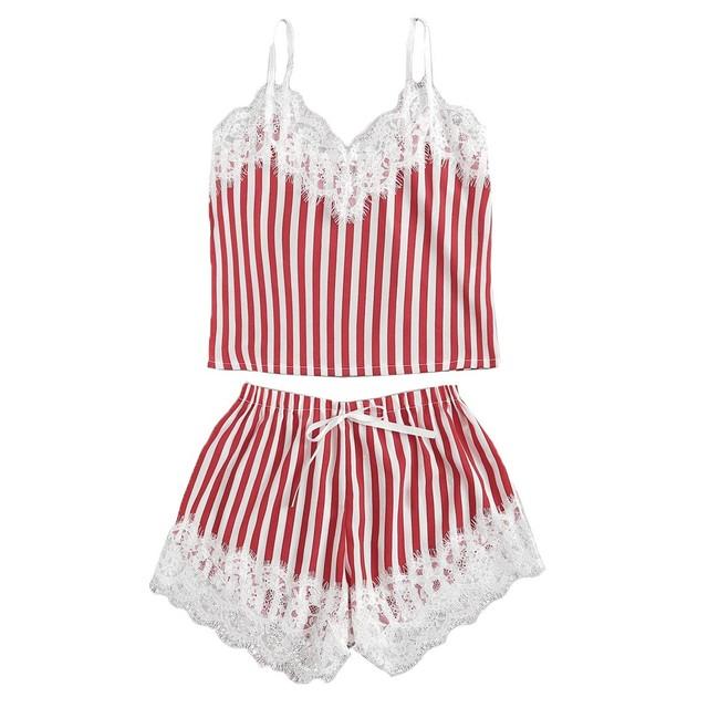 Women's Lace Trim Camisole Sleepwear Set