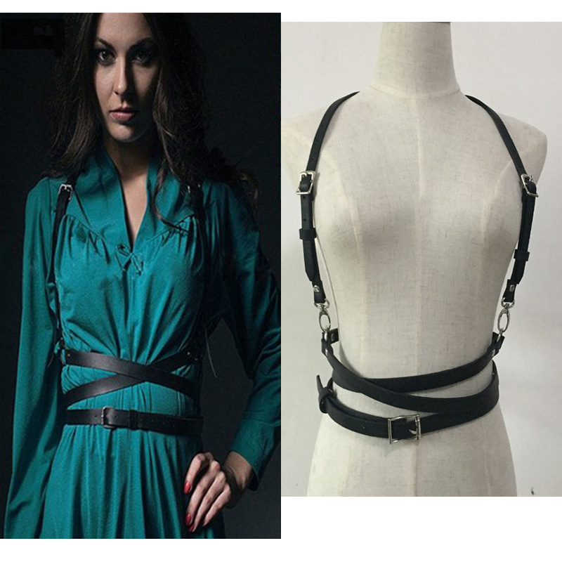 Hot Fashion Handmade Leather Harness Punk Gothic Body