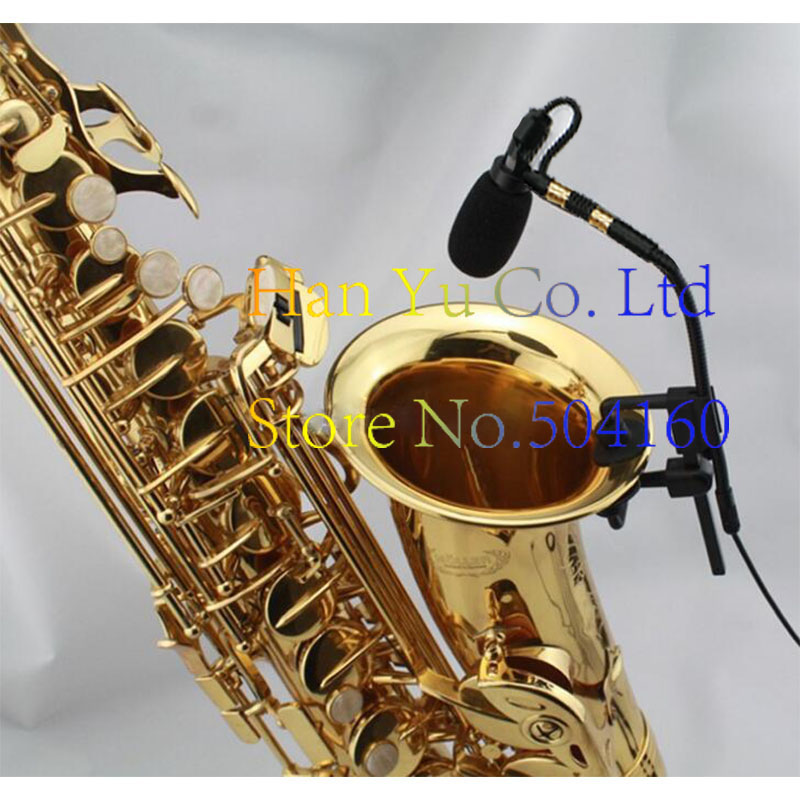 Free Shipping Pro Saxophone Stage Performance Instrument Clip Capacitor Microphone Headset FOR AKG XLR 3 Pins